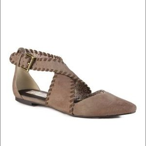Band of Gypsies Beige Taupe Dusty Flats Size 8.5